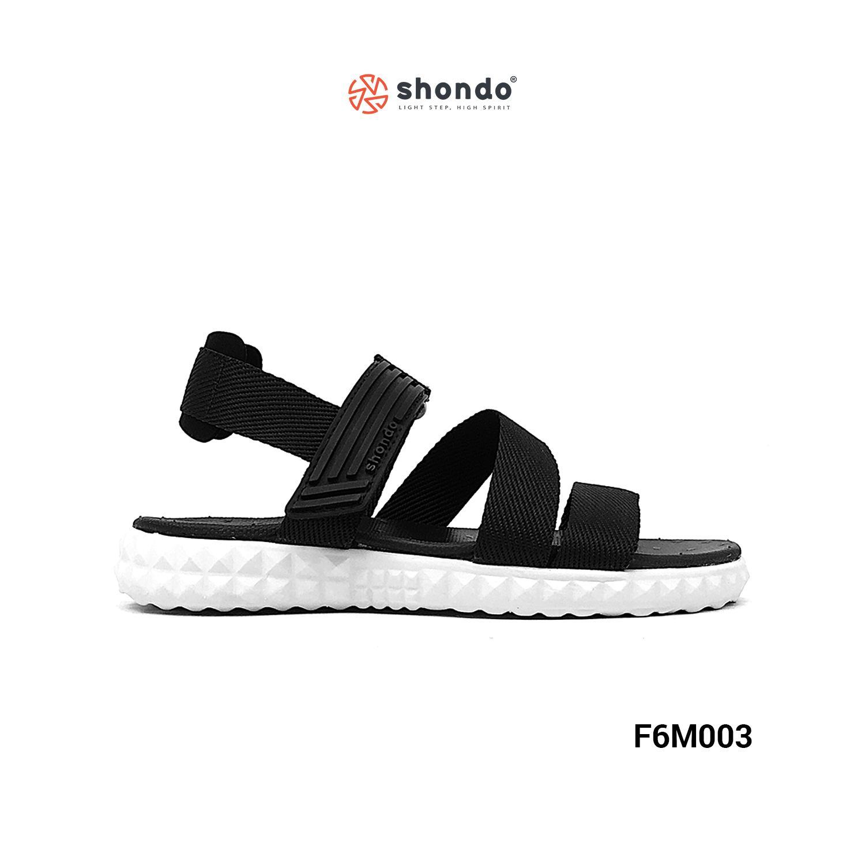 Giày F6 quai chéo màu đen đế trắng