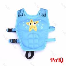 Phao bơi trẻ em, áo phao bơi STAR (Bé từ 2 – 10 tuổi), chất liệu tiêu chuẩn EU cao cấp – POKI