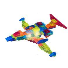 Bộ xếp hình máy bay điều hành 73 chi tiết 6 trong 1, có sử dụng pin
