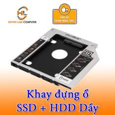 Caddy Bay SATA 3.0 12.7mm Dầy Gắn Thêm Ổ Cứng Cho Laptop
