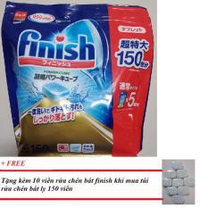 Tặng 10 viên rửa chén finish Nhât khi mua túi rửa chén finish 150 viên xuất Xứ Nhật ( Viên tổng hợp 3 trong 1)