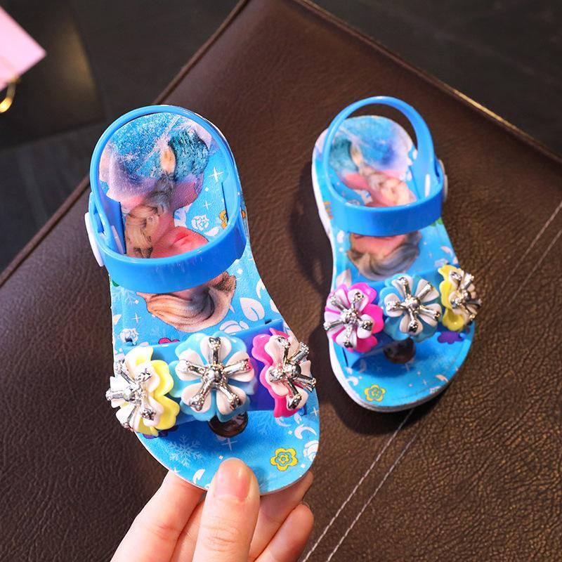 Dép Sandal bé gái – elsa – hồng/xanh/tím – Size 24 đến 29 – V111