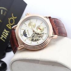 Đồng hồ cơ nam Sewor dây da cao cấp chạy full kim có lịch tuần trăng