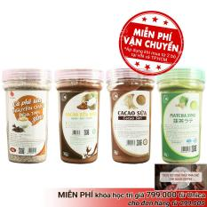 Combo 4 loại thức uống hòa tan pha Light Coffee – Cacao sữa, Matcha sữa, Cà phê sữa, Cacao sữa dừa – 90g/hũ