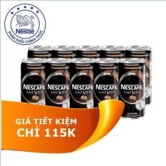 Lốc 10 lon Nescafé CAFÉ VIỆT – vị cà phê đen (170ml/lon) – tặng 02 loa Iphone sành điệu