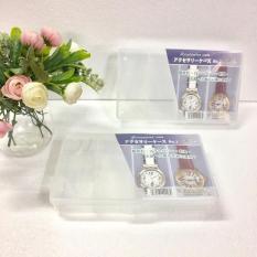 Hộp đựng trang sức, đồng hồ 4 ngăn (Trắng) hàng nhập khẩu Nhật Bản