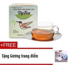 Trà thảo mộc giảm cân Vy & Tea Chính hãng (Liệu Trình 15 Ngày)- Tặng Gương trang điểm