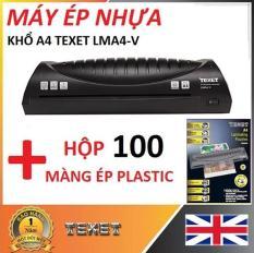 Máy ép nhựa khổ A4 Texet LMA4-V tặng Hộp 100 Màng ép Plastic Texet