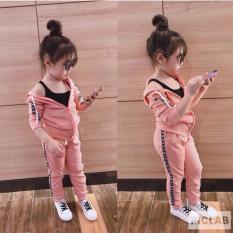 Bộ quần áo khoác thể thao cho bé gái (Vui lòng đọc kỹ hướng dẫn chọn size – Có size 7-18kg)