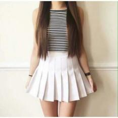 Chân váy xếp ly TENNIS siêu dễ thương có quần lót trong ( màu trắng)