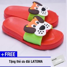 Dép trẻ em chất liệu xốp cao cấp Latoma TA1184 (đỏ)+ Tặng kèm thẻ ưu đãi Latoma
