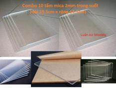 Combo 10 tấm nhựa mica acrylic cứng trong suốt dày 2mm (dài 19.5cm x rộng 14.5cm) chế đồ chơi sáng tạo, thủ công mỹ nghệ (VA130x10 TQ) – Luân Air Models