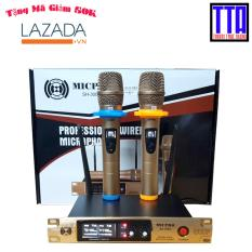Micro không dây gia đình SH-300G, sóng UHF, micro vỏ kim loại (Gold)
