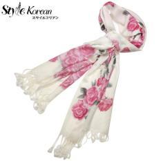 Khăn lụa cao cấp , Khăn choàng cổ , khăn choàng mùa đông , khăn lụa mềm mịn , khăn , khăn choàng , khăn quàng cổ , lụa siêu mịn họa tiết hoa cao cấp