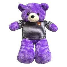 Gấu bông cao cấp Teddy áo thun màu tím Size 50cm hàng VNXK