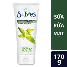 Sữa rửa mặt trị mụn đầu đen và giảm đỏ St.Ives trà xanh 170g