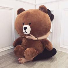 Gấu bông Brown cao cấp khổ vải 1m hàng VNXK