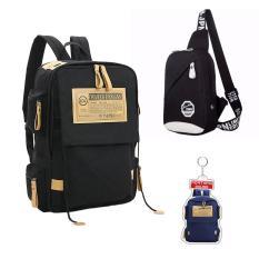 COMBO 1603: Balo đi học, đi làm đựng vừa Laptop 16inch + Túi đeo vai sành điệu + MÓC KHÓA độc đáo Fortune mouse