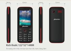 Điện thoại Bavapen B25 Màn hình rộng 2.4 inch chữ to phím to 2 sim nghe nhạc MP3 FM Đầy đủ phụ kiện hộp bảo hành 12 tháng