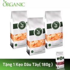 Combo 3 Kẹo Mác Mác Sữa – Nhi Farm (180gx3 ) + Tặng 1 Kẹo Dâu Tây – Nhi Farm (180g)