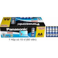 Pin AA Panasonic (màu xanh) – Hộp 15 vỉ (60 viên) – R6UT/4S – Made in Indonesia