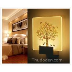 đèn hắt led cây sắc mầu