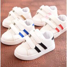 Giày Sneaker 2 Sọc Cute T2 Cho Bé Trai & Bé Gái