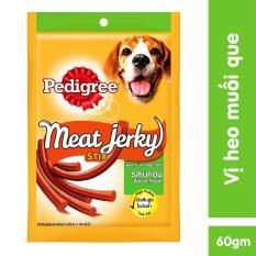 Thức ăn vặt cho chó Pedigree Meat Jerky vị heo muối dạng que 60gr