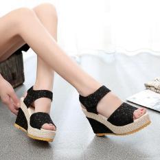 Giày đế xuồng nữ cao cấp Kem,Đen -9 phân – Size 35 đến 39_KM