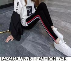 Quần Dài Nữ Thun Ôm Legging Thể Thao Thời Trang Hàn Quốc – BT Fashion (QTT05-2 SỌC)