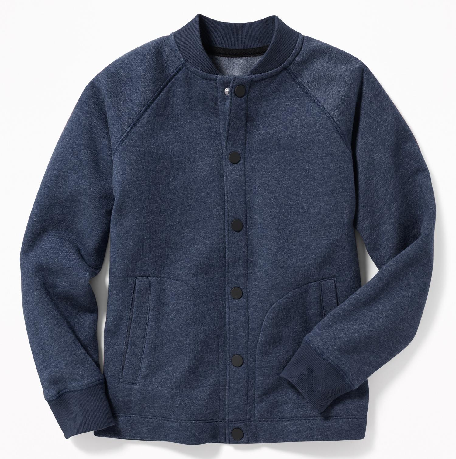Áo khoác Bomber bé trai Old Navy size đại – màu xanh navy
