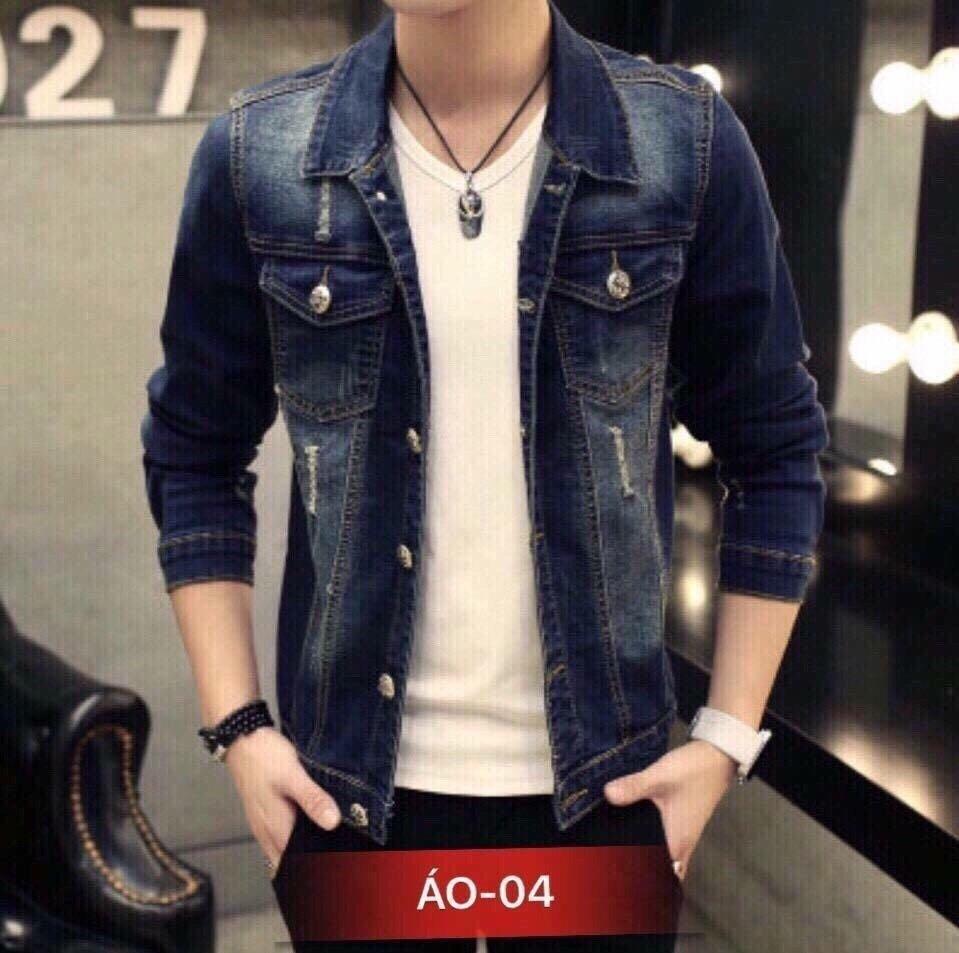 Áo Khoác Jeans Nam Phong Cách M004