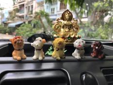 Bộ tượng 5 chú cún con ngộ nghĩnh đáng yêu.