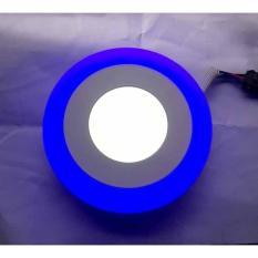 Đèn LED Âm Trần 3 Chế Độ 6W + 3W Viền Xanh Dương