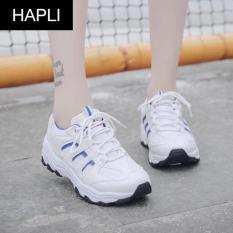 Giày sneaker nữ dấu ngoặc chéo HAPLI (Đen, Xanh, Trắng)