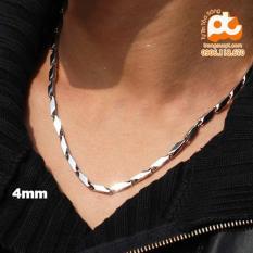Dây chuyền nam inox cao cấp phong cách không đen giá rẻ HCM A14 ( 4mm)