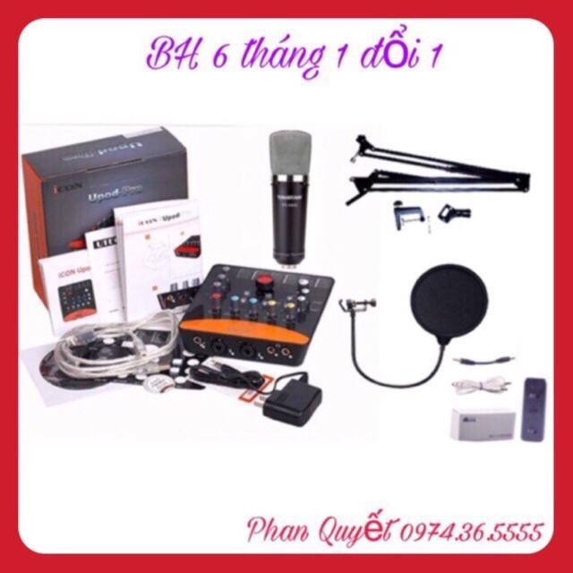 Bộ Combo Livestream Micro Takstar PC-K600- Card Icon Upod.Pro- Dây Live MA1- Màng Lọc Âm- Chân Kẹp