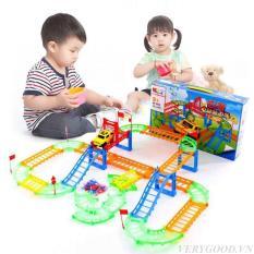 Đồ chơi trẻ em – Bộ Ô TÔ ĐƯỜNG RAY 90 chi tiết – Đồ chơi lắp ráp đường đua ô tô hay nhất hiện nay