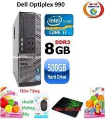 Máy tính Dell optiplex 990 Core i7 RAM 8GB HDD 500GB , Tặng chuột không dây chính hãng , ban di chuột , Bảo hành 24 tháng – Hàng nhập khẩu (Xám)