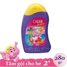 CARRIE JUNIOR – Tắm gội toàn thân cho bé hương Cherry 280 gr