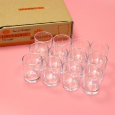 Bộ 12 cốc thủy tinh trong suốt Lotus Glass 30ml