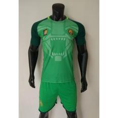 Quần áo đá banh Cameroon xanh lá 2018