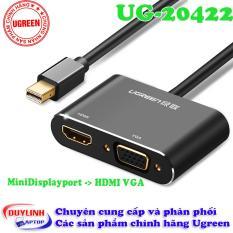 Cáp chuyển đổi Mini DisplayPort sang VGA + HDMI Ugreen 20422