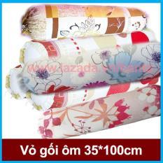Vỏ gối ôm 35*100 cotton nhiều màu đẹp mắt (giao màu ngẫu nhiên)