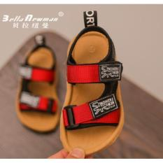 Dép sandal quai ngang cao cấp bé trai 1-3 tuổi – đỏ