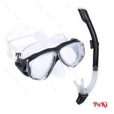 Bộ kính lặn Ống thở 198 – mắt KÍNH CƯỜNG LỰC, ống thở van 1 chiều ngăn nước, đồ thể thao chuyên dụng cao cấp – POKI