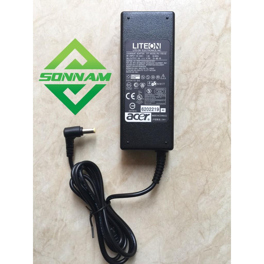 SẠC LAPTOP ACER LITEON 19V-4.7A (Tặng kèm dây nguồn xịn )