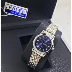 Đồng hồ nữ Halei mã 502 mặt xanh xinh xắn