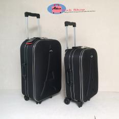 Vali vải kéo tay du lịch màu đen 20inch ( bảo hành 12 tháng)