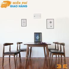 Bộ bàn ăn Bull màu walnut 4 ghế
